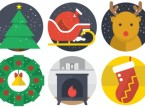 christmas flat icon indice