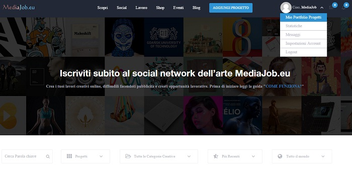 Mediajob.eu - come funziona - modifica progetto inserito