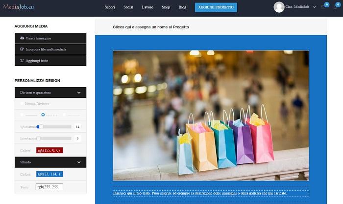 Mediajob.eu - come funziona - personalizza progetto