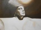 IL VIAGGIANTE olio su tela 50 x 50. Dipinto a mano