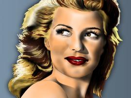 RitaHayworth ritratto arte mediajob.eu