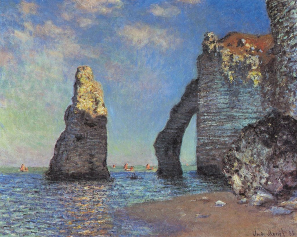 The rocky cliffs of Étretat by Monet arte artista mediajob.eu