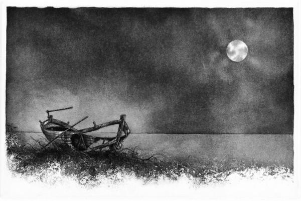 La barca e la luna-1991-vern_molle,acquaforte,acquatintajpg