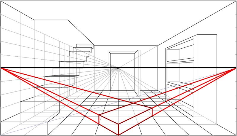 Blog arte disegno prospettiva accidentale e regole for Disegni di case in prospettiva