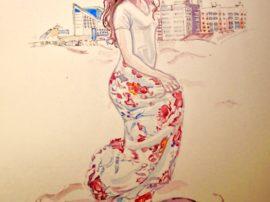 danza per la vita opera arte acquerello watercolor mediajob.eu