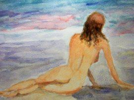 Acquerello nudo pittura arte mediajob