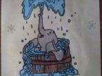 Elefante disegno matite colorate arte mediajob