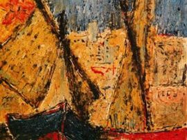 franco-minardi-barche-sulla-spiaggia-opera-in-pittura-ad-olio