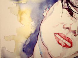 Innocent smile - Acquerello e China su carta Cotone. Opera artista Gino Galante. Acquerelli - Mediajob.eu il sito d'arte e vendita quadri