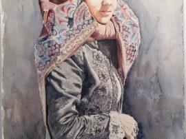 Quadro Donna. Dipinto olio su tela dell'artista Pinucciu. Mediajob.eu