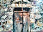 Quadro porta. Dipinto olio su tela