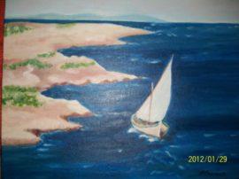 Seliero, oli su tela. Dipinto pittura Grecia