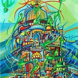 Pappagalli-di-Orchha-olio-su-tela-50x60cm-2013