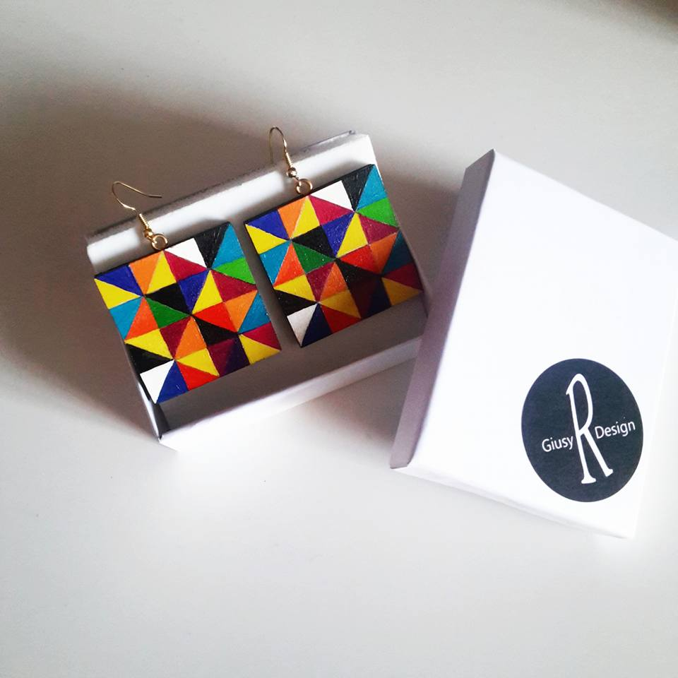 Quadri vendita online: MicroPittura .. orecchini dipinti a ...