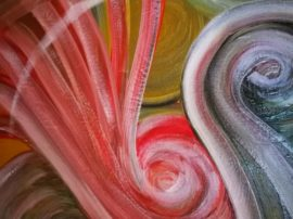Quadro dipinto colori olio su tela