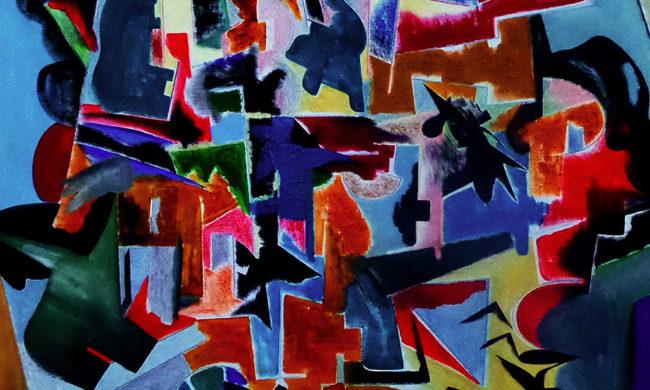 Cubist landscape. Dipinto astratto