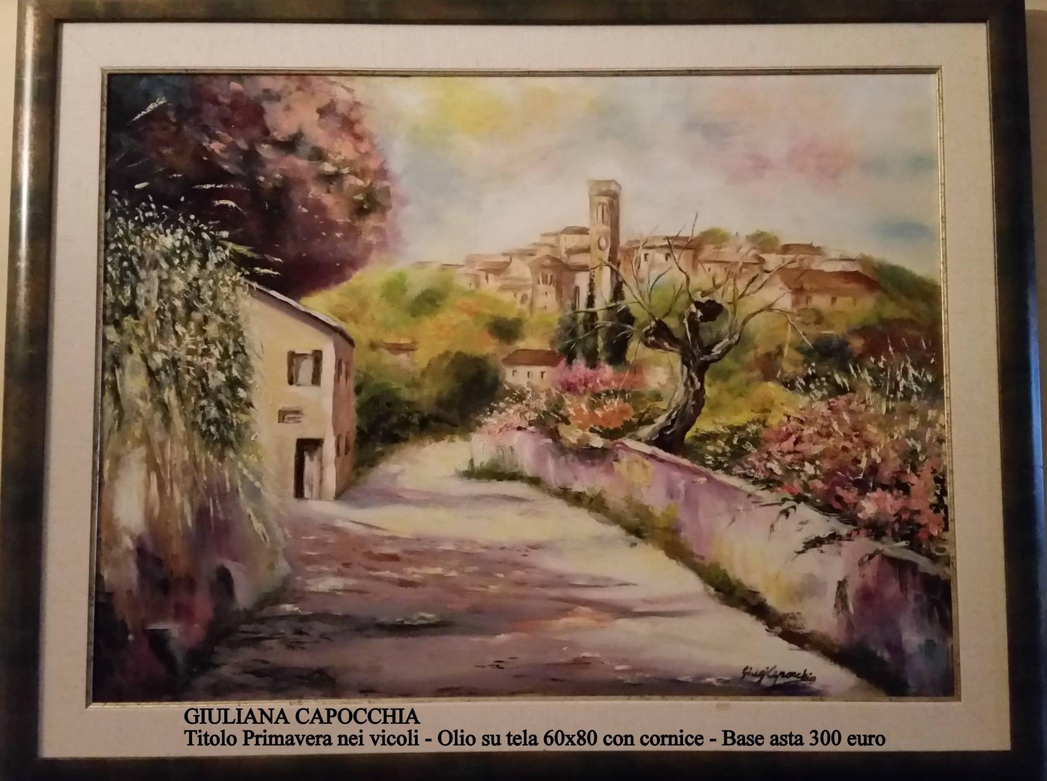 Dipinto in vendita Primavera nei vicoli. Olio su tela. Artista Giuliana Capocchia