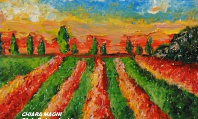 Dipinto olio spatolato artista italiana chiara magni