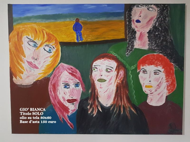 Dipinto solo olio su tela pittrice italiana mediajob