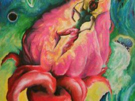 Aliena ovum - Dipinto acrilico su tela