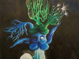 aterfall - Dipinto acrilico su tela
