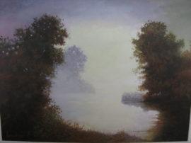 Mio dipinto a tempera 40 x 30 Controluce