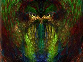 owly-spirit-wm. Arte digitale artista Giada Rossi