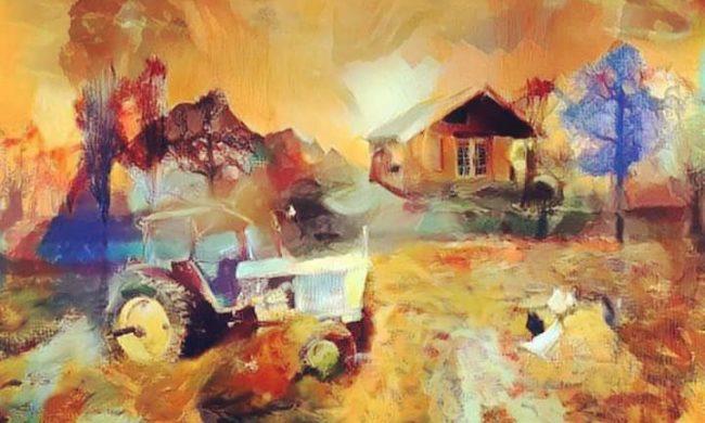 Campagna arte e pittura vendita quadri dipinti disegni for Piani di piccola fattoria avvolgono portico