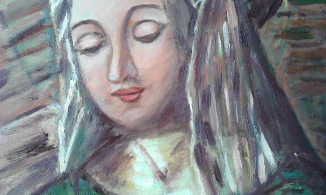 Donna. Dipinto quadro olio su tela. Artista Pinamaria Polcari.
