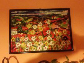 Paesaggio siciliano mosaico vetro murano