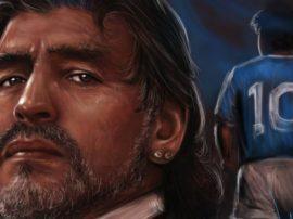 L'anima Del Calcio In Uno Sguardo di Diego Armando Maradona