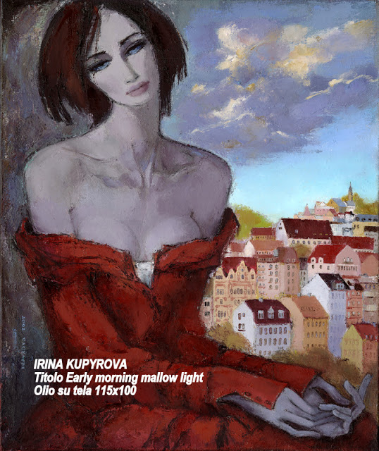 Irina Kupyrova Early morning mallow light oil painting on canvas 115 x 100