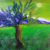 Albero dipinto artista Rita Cunsolo mediajob arte