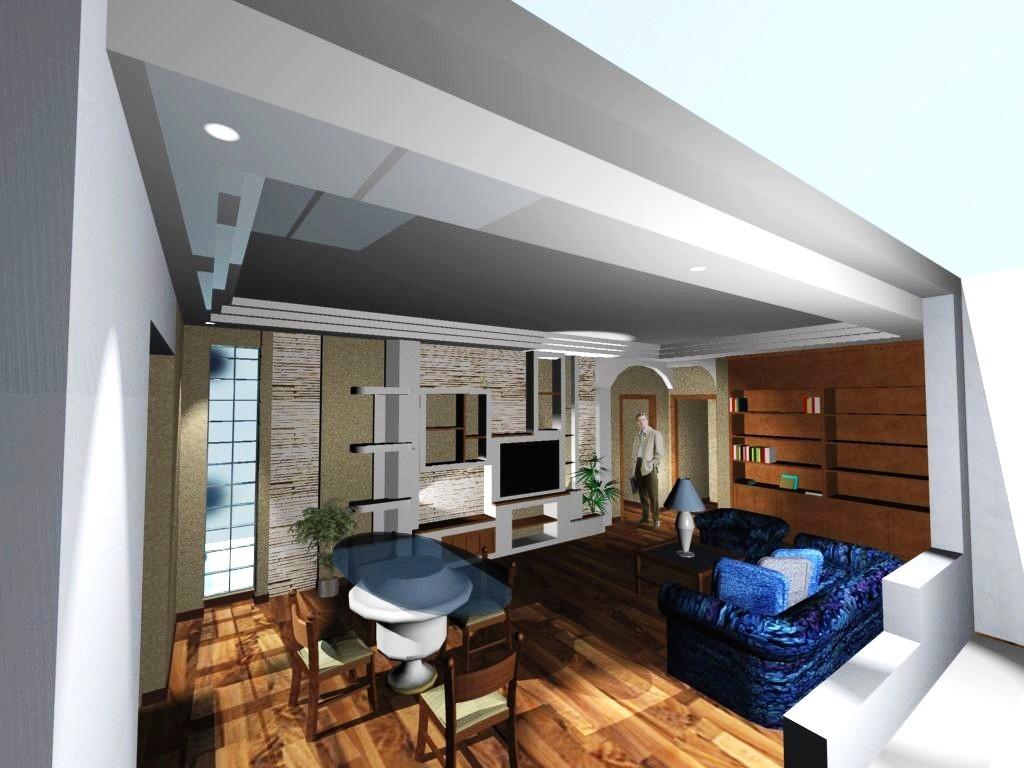 Quadri vendita online: Un soggiorno con un\'elegante parete ...