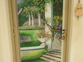 Acrilico porta. Uscita su Parco 100x190cm. Aniello Marino