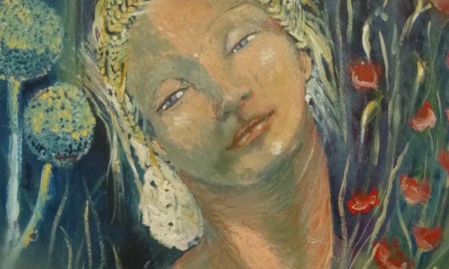 Maschere bianche veneziane. Olio su tavola. Dipinti Guendalina Maggiora.