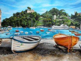 Barche a Portofino (Artista: Elsa Ventura Migliorini)