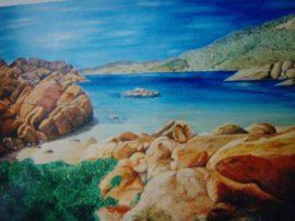 Sardegna-Cala Coticcio 60x40 olio