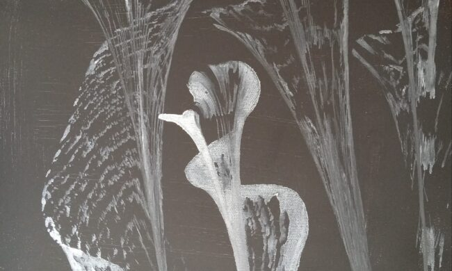 filo su tela dipinto