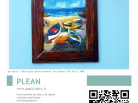 Certificato di Proprieta dipinto la risacca Antonio Pascale artista mediajob