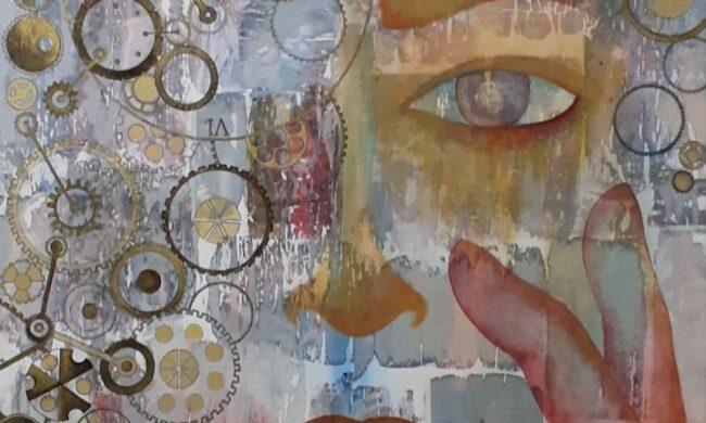 dipinto viso donna