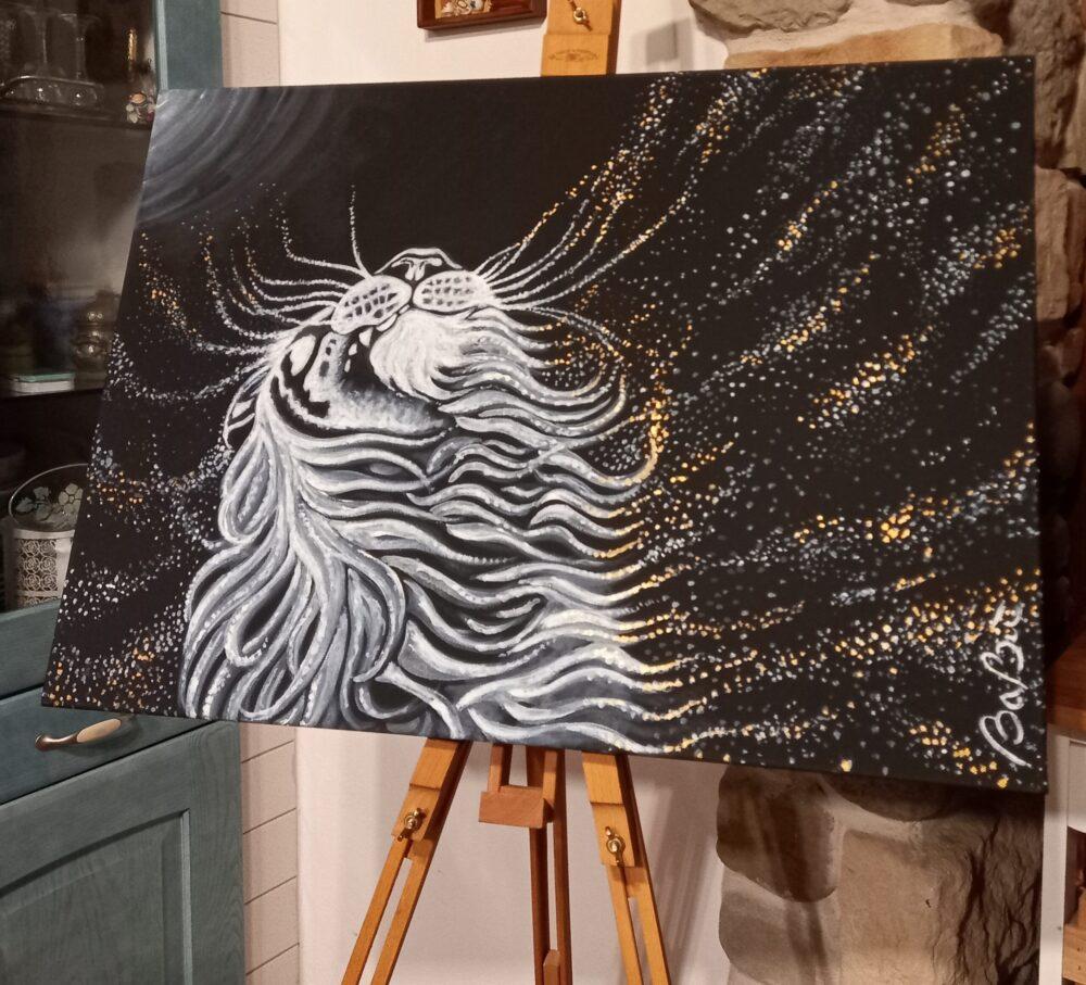 Tigre stellata - dipinto artista Barbara Benvegnu su mediajob